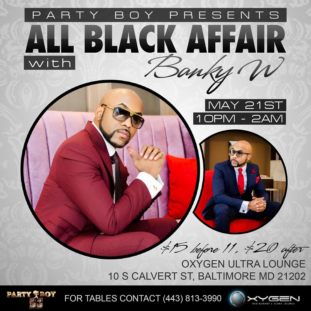 all black affair flyer on behance