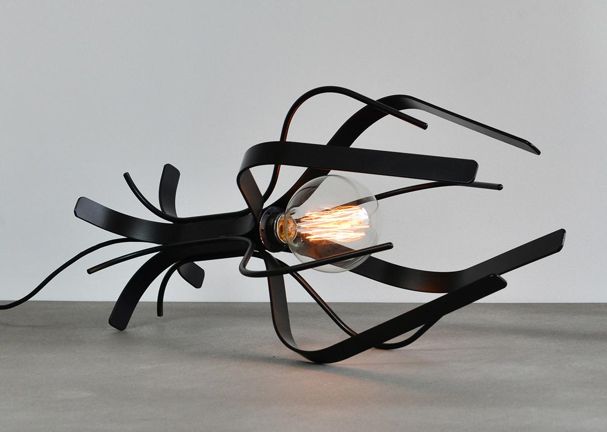 light luminaire Lamp lighting metal colors wine glass sottosopra bulb