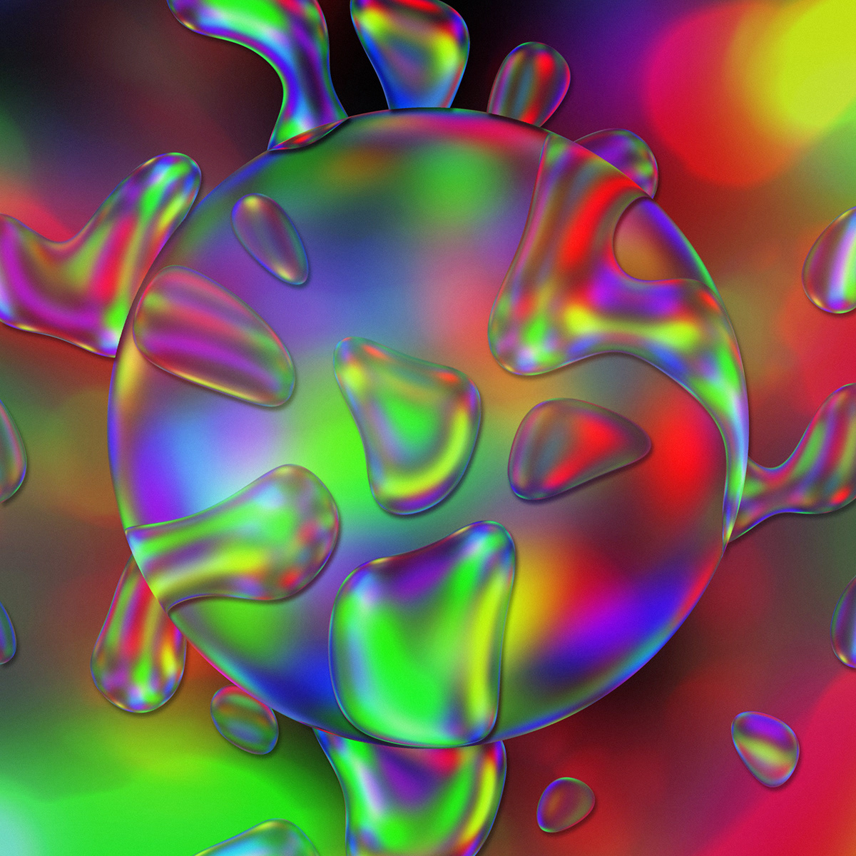 Image may contain: abstract, bubble and colorfulness