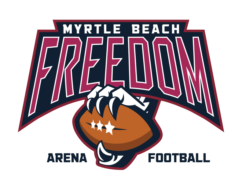 Logo Design The Myrtle Beach FREEDOM Football Team On Behance