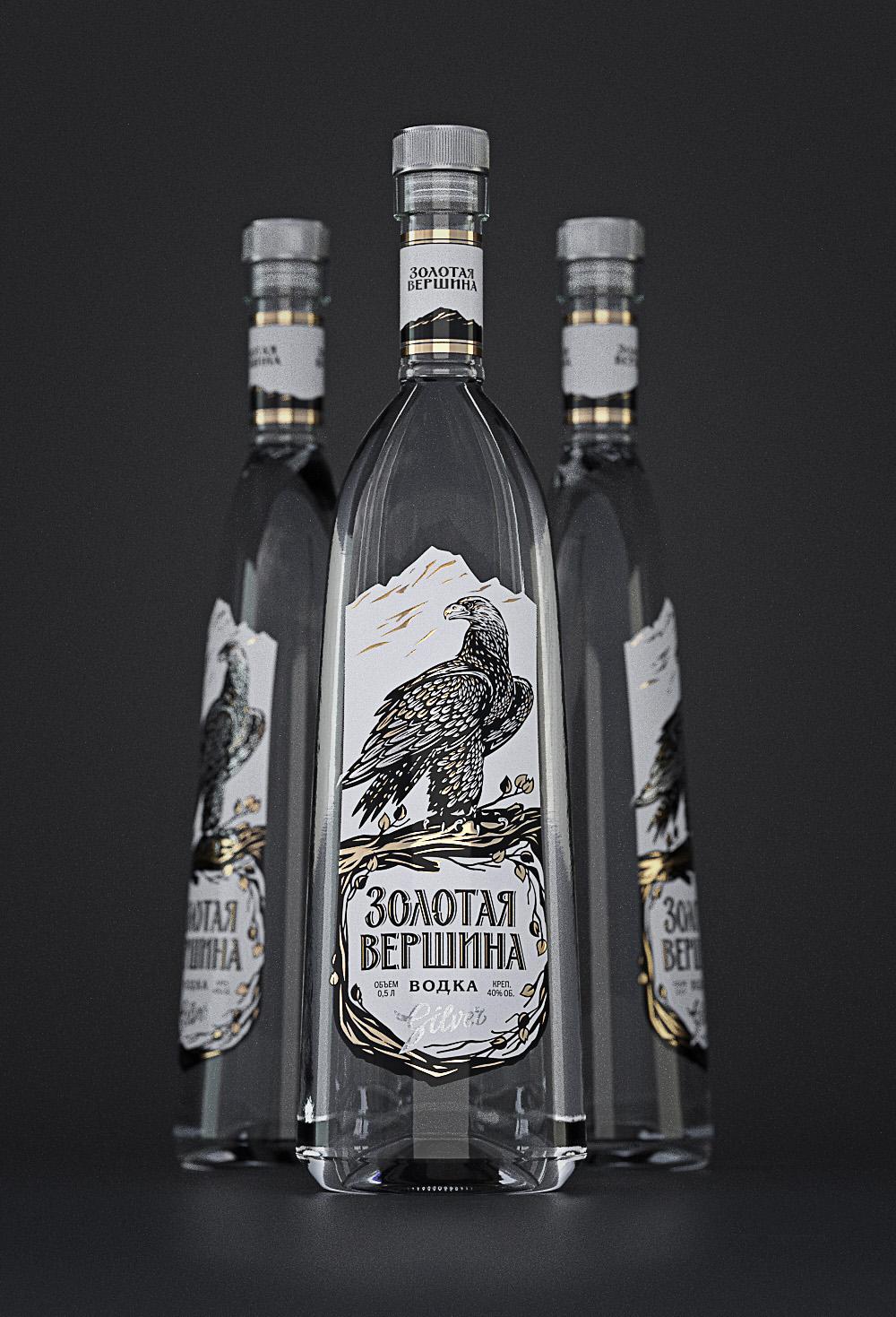 golden peak Vodka russian eagle