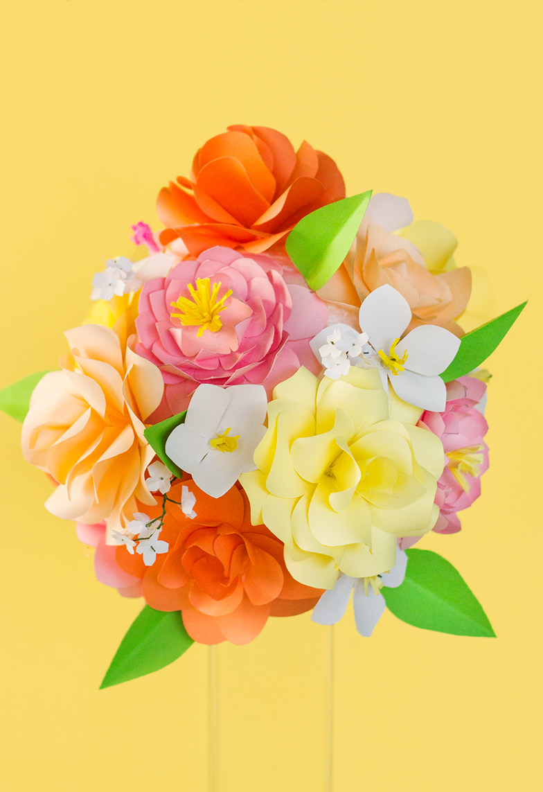 Paper flowers summer bouquets on behance follow me on instagram stephanietudutd izmirmasajfo Gallery