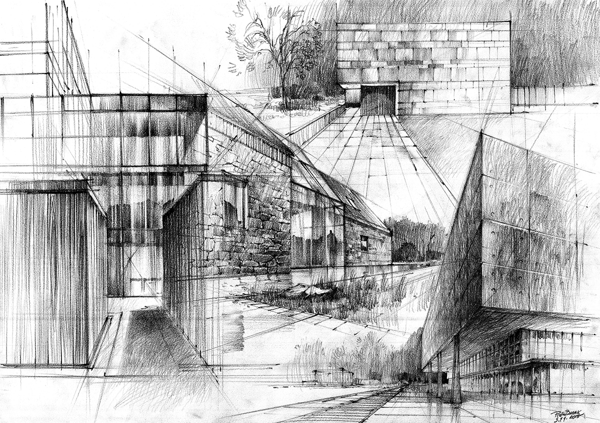 architecture Drawing  drawings pencil Work  sketch plenair