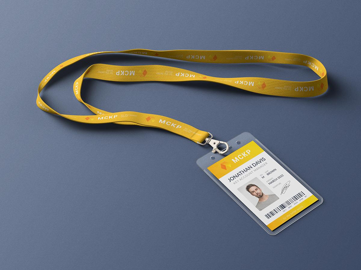 Lanyard Id Card Holder Mockup On Behance