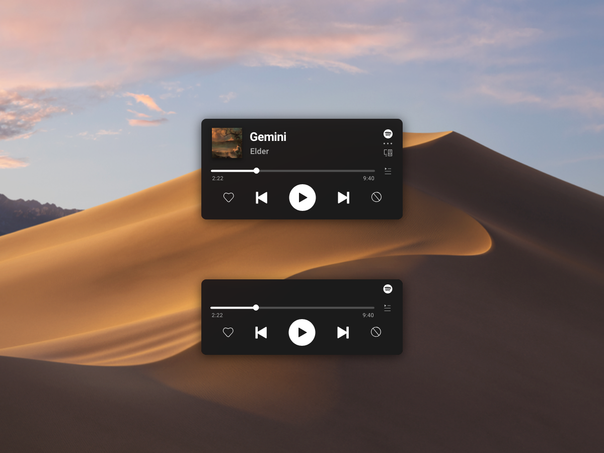 Spotify Mini player 2019 on Behance