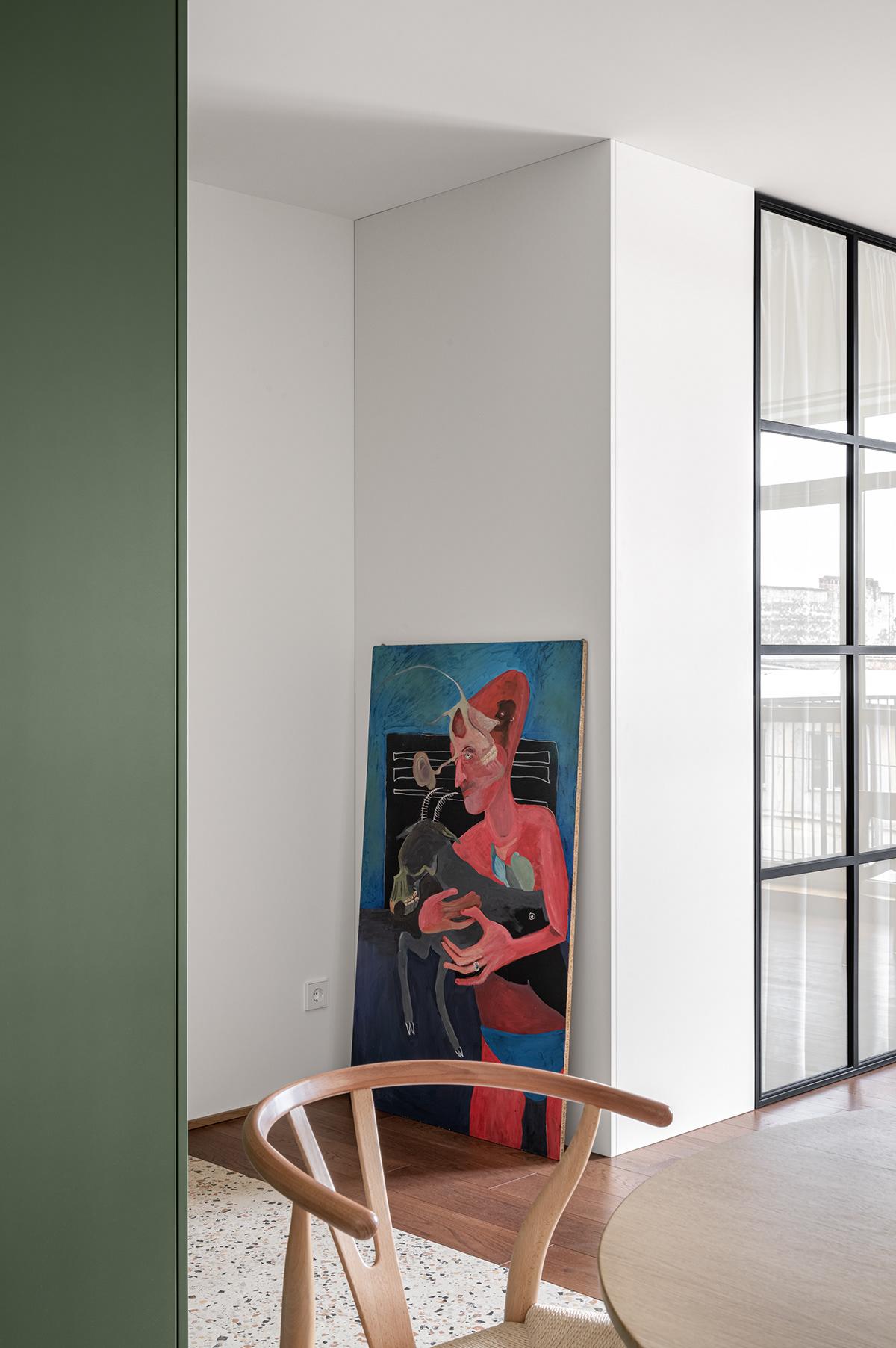 apartment clean design green Interior minimal residential simple