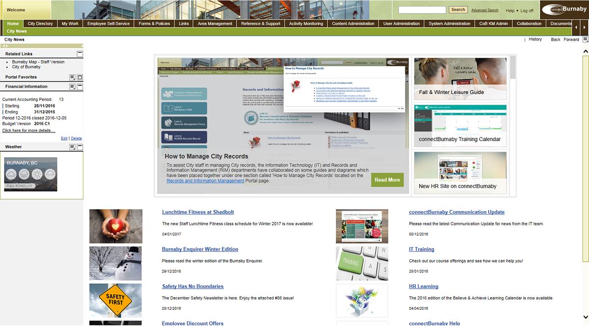 burnaby,portal,SAP,Website
