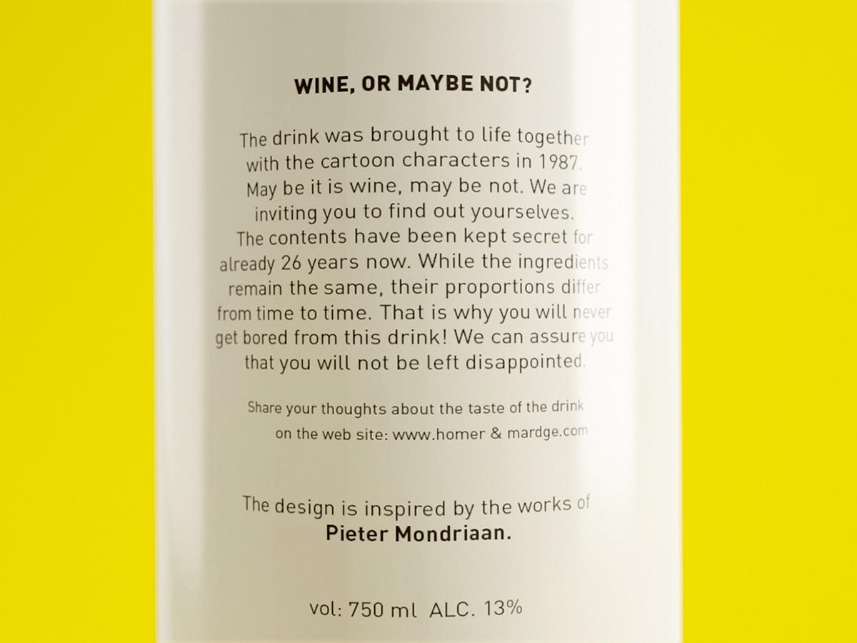 wine bottle packing yellow blue black drink mondriaan Pieter Mondrian bolimond dp c4d