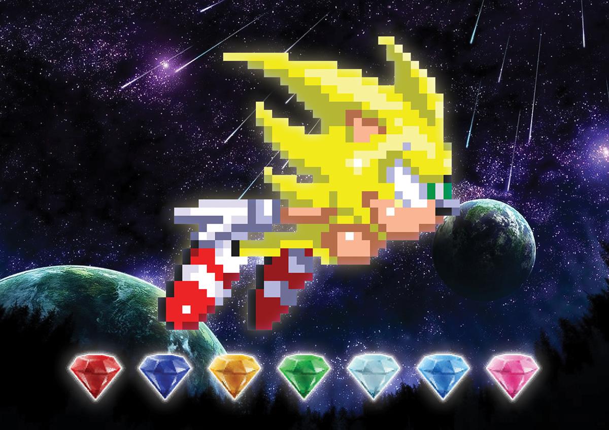 Super Sonic Pixel Art On Behance