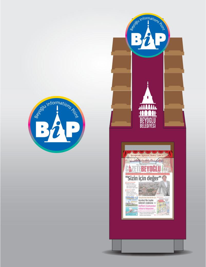 Beyoğlu Belediyesi Beyoğlu Municipality Informations Point Newspaper Stand Design
