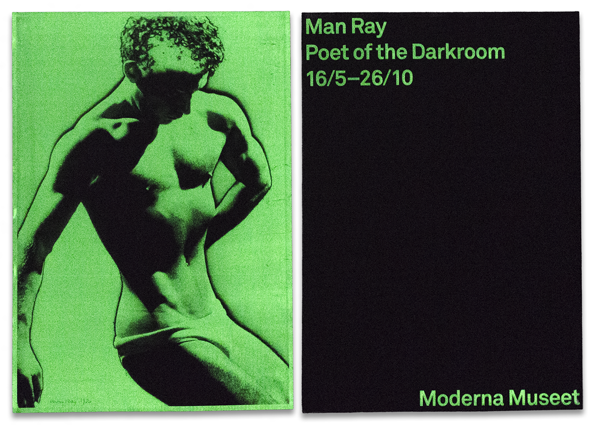 Adobe Portfolio glow dark Man Ray darkroom photograph rayograph glow Moderna museet beckmans night light screen print door Invitation poster Catalogue assymetric