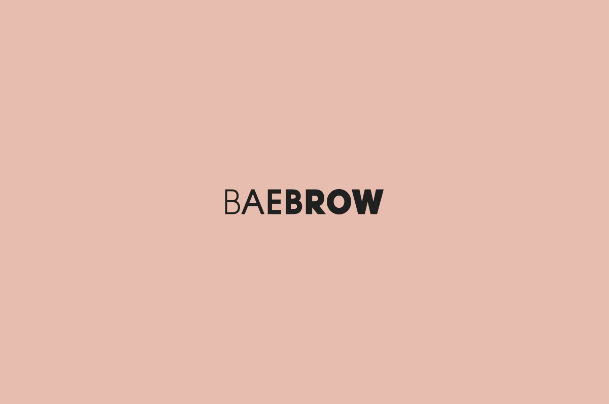 skincare brows Packaging business card letterhead cosmetics eyebrows skin care brand identity serum