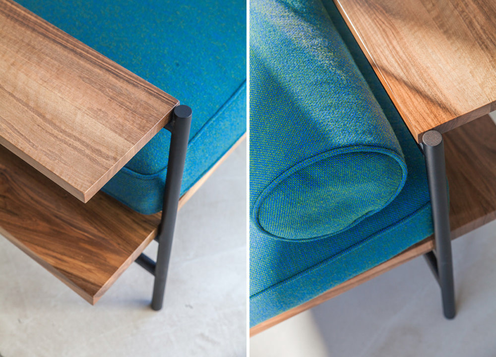 furniture daybed design AC/AL studio Versant Edition kvadrat wood