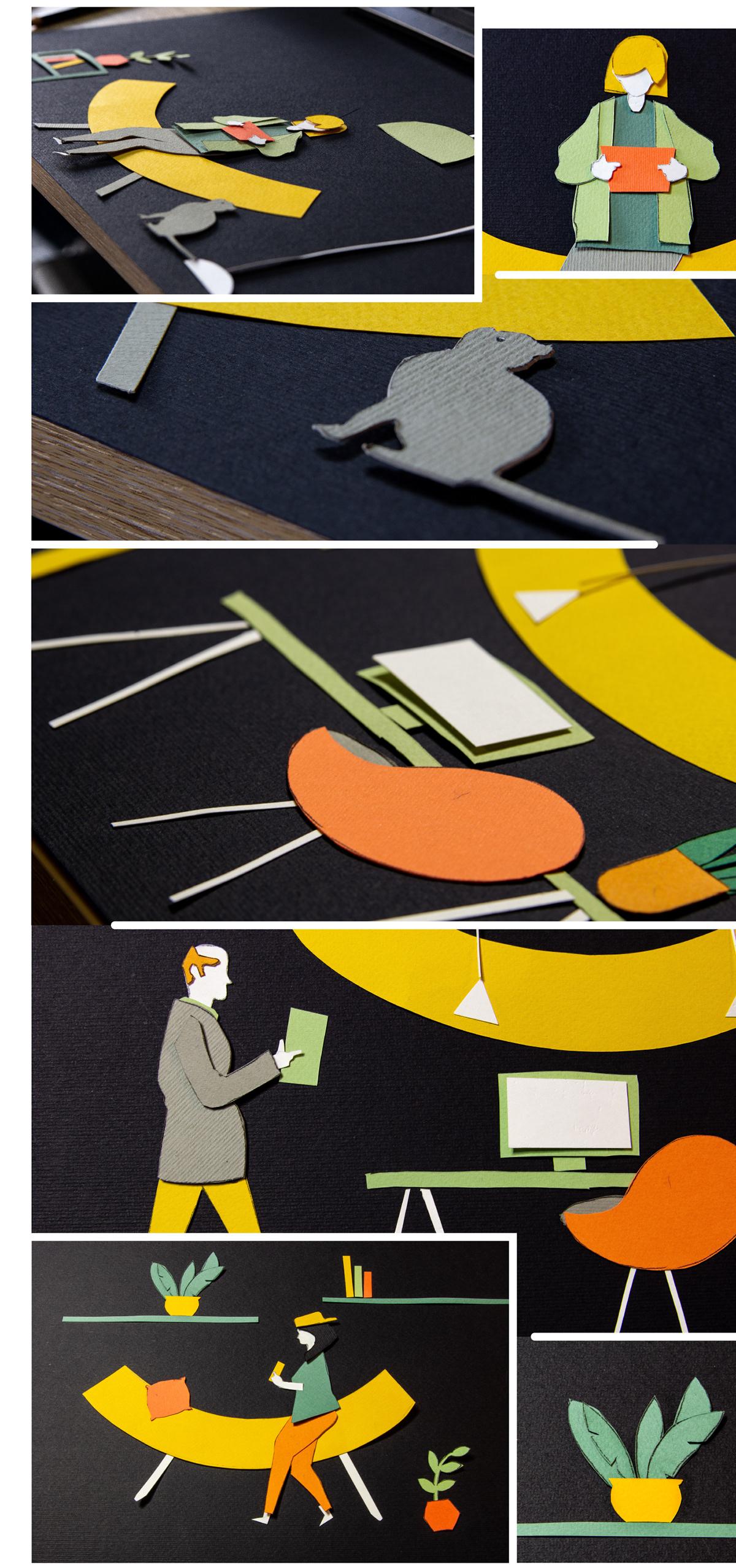 naming logo branding  brand identity paper cut symbol patern guidelines