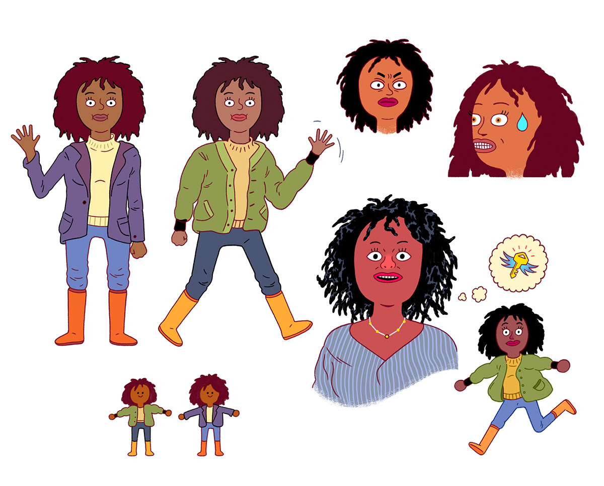 Character design  commercial Spot tv
