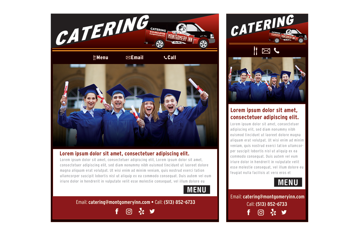 Montgomery inn catering email template on behance created an interactive email template for montgomery inn catering pronofoot35fo Gallery
