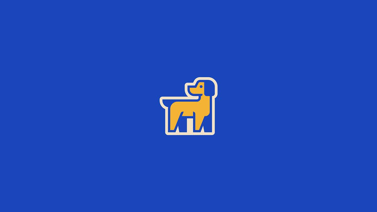 animal branding  dog logo petshop shop