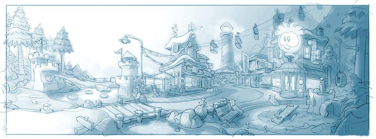 Club Penguin Island Concept Art