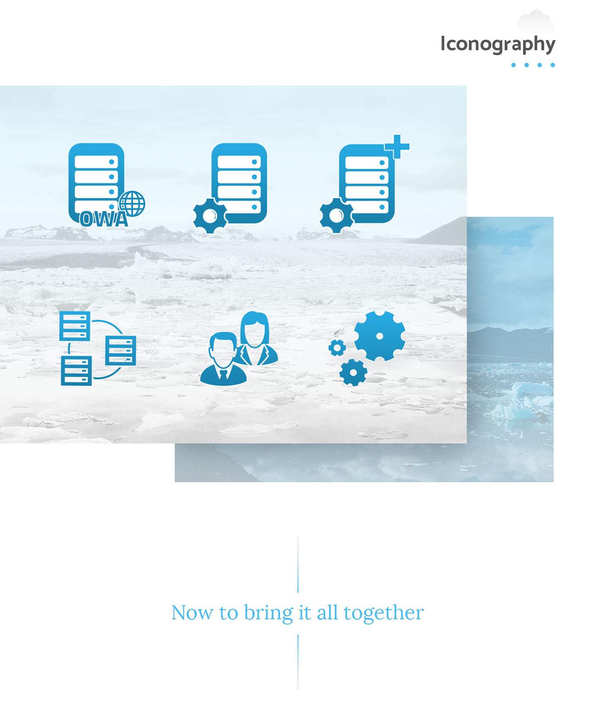 ui design UX design Web Design  cloud blue computing