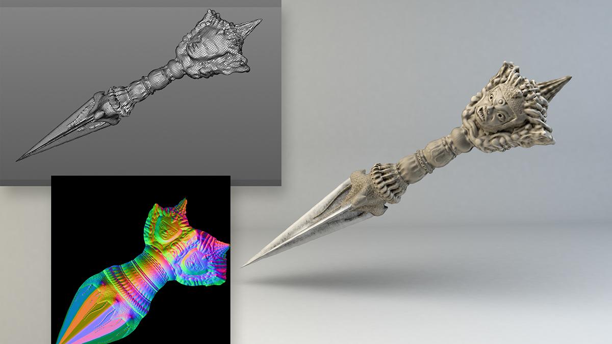 phurba knife 3D model