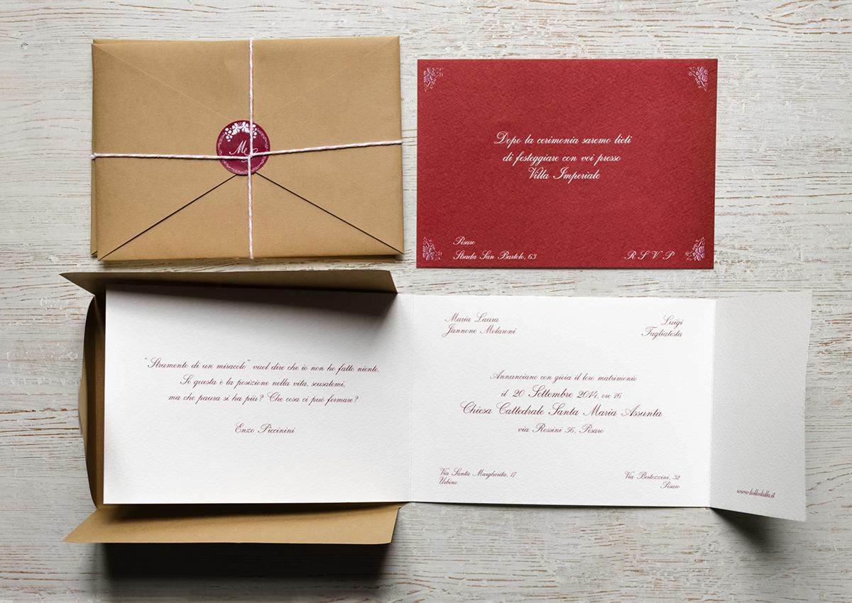 M&L wedding invitation on Behance