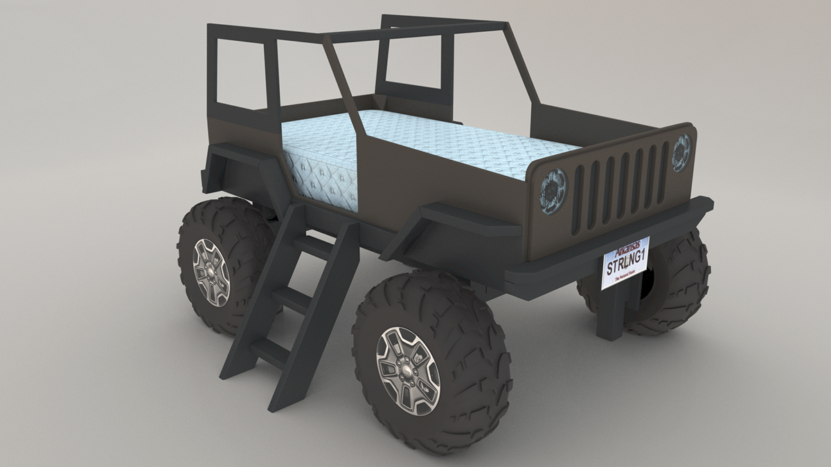 3d Visualization Proof Of Concept For Jeep Bed On Behance