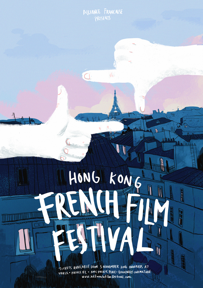 Graphic Design Hong Kong French Film Festival Poster On