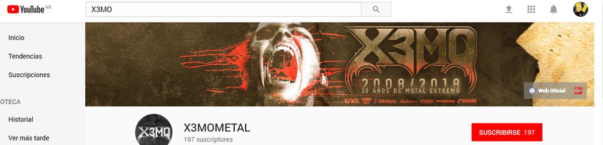 diseño de portada, banner para youtube