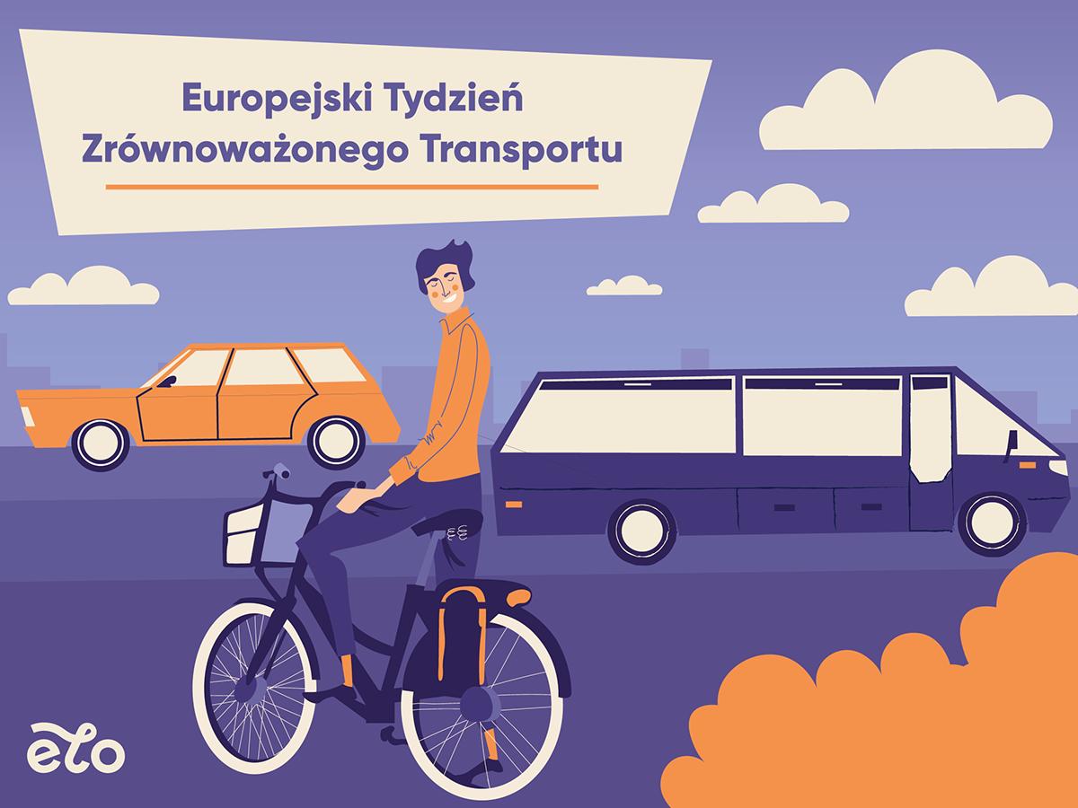 ILLUSTRATION  Character Socialmedia design Bike Wavelo 2D facebook artwork krakow