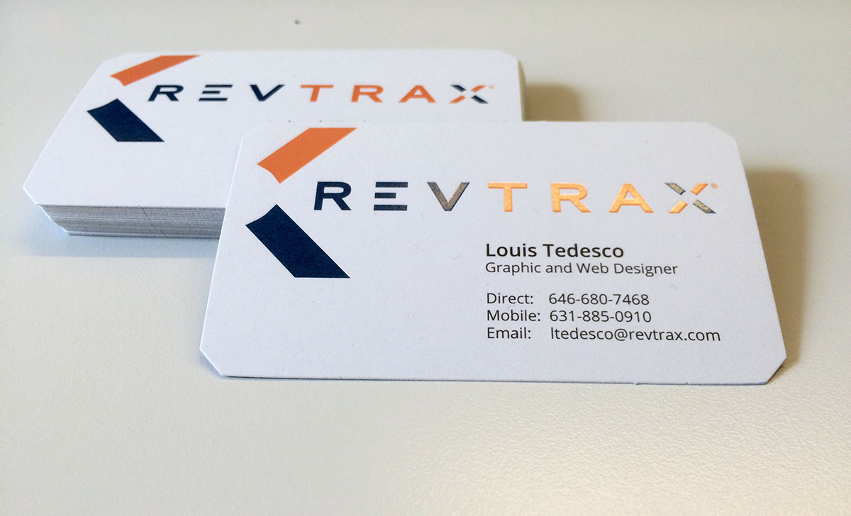 Revtrax business card design on behance reheart Choice Image