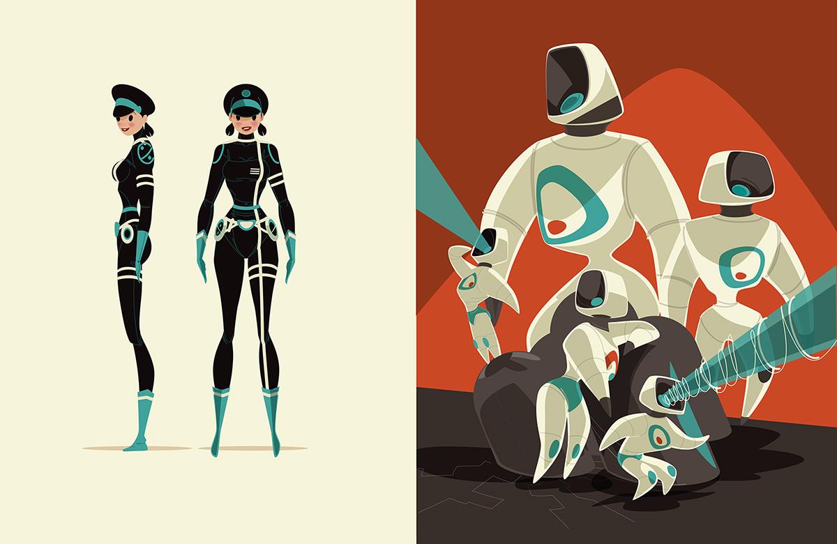 art book ragnar Ragnarama Sci Fi girl gang