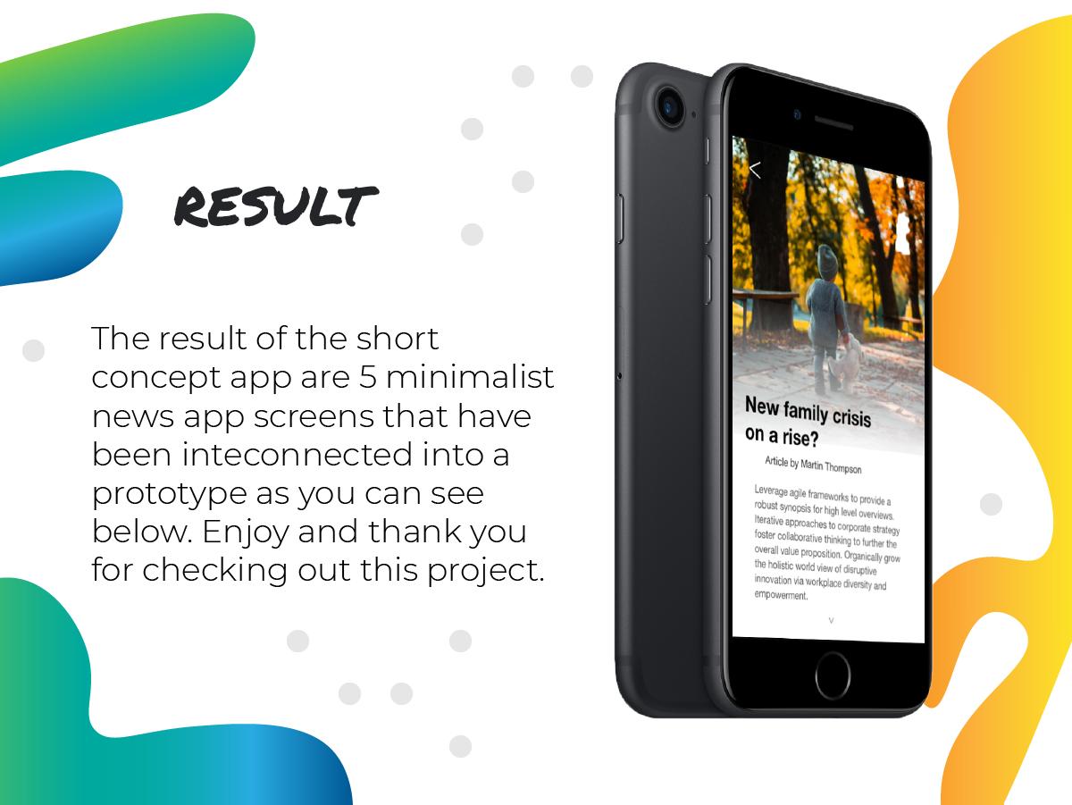 News App Design Concept - Case Study on Behance