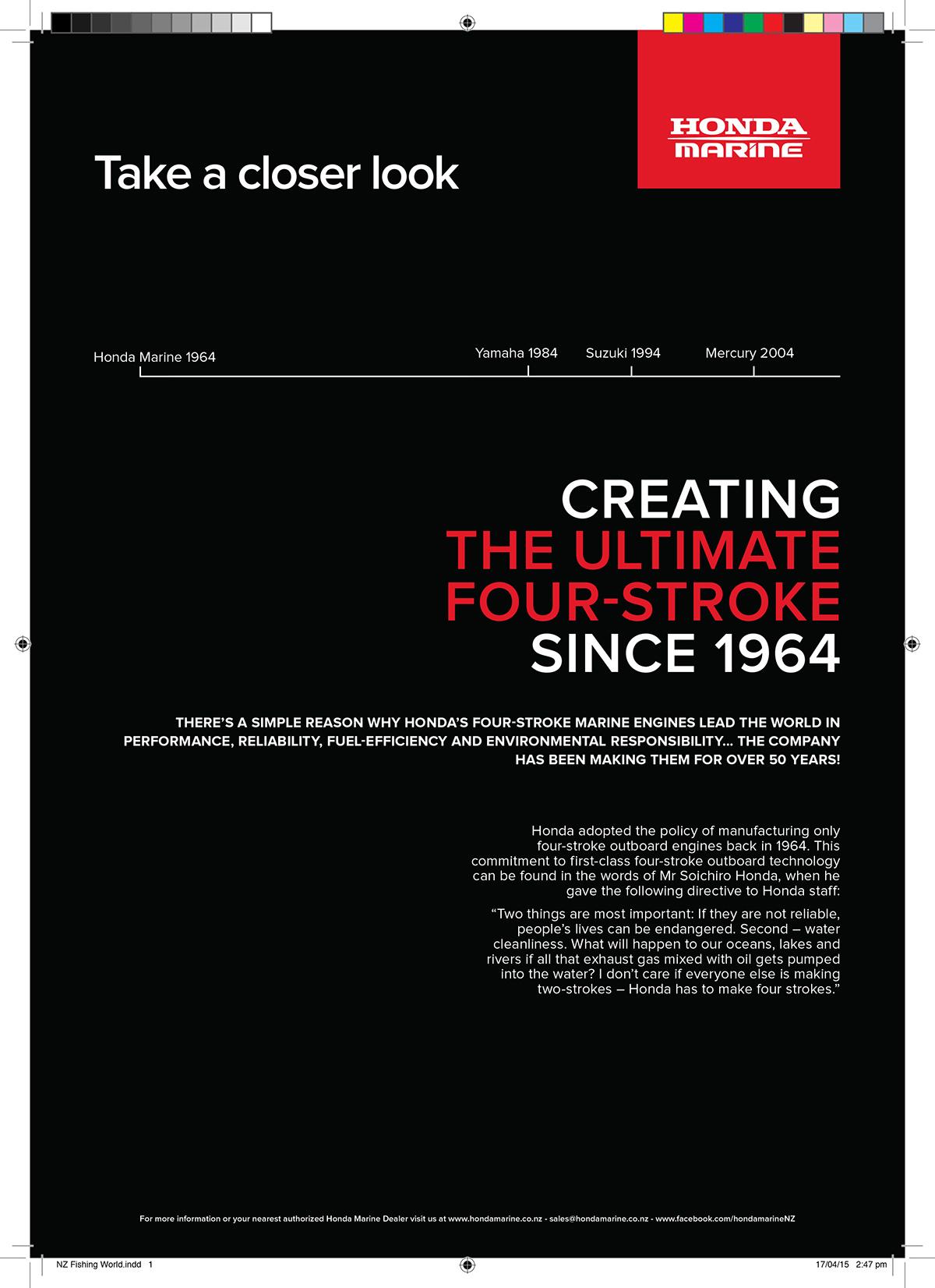 Honda Marine Brand Education Campaign Print Media On Behance