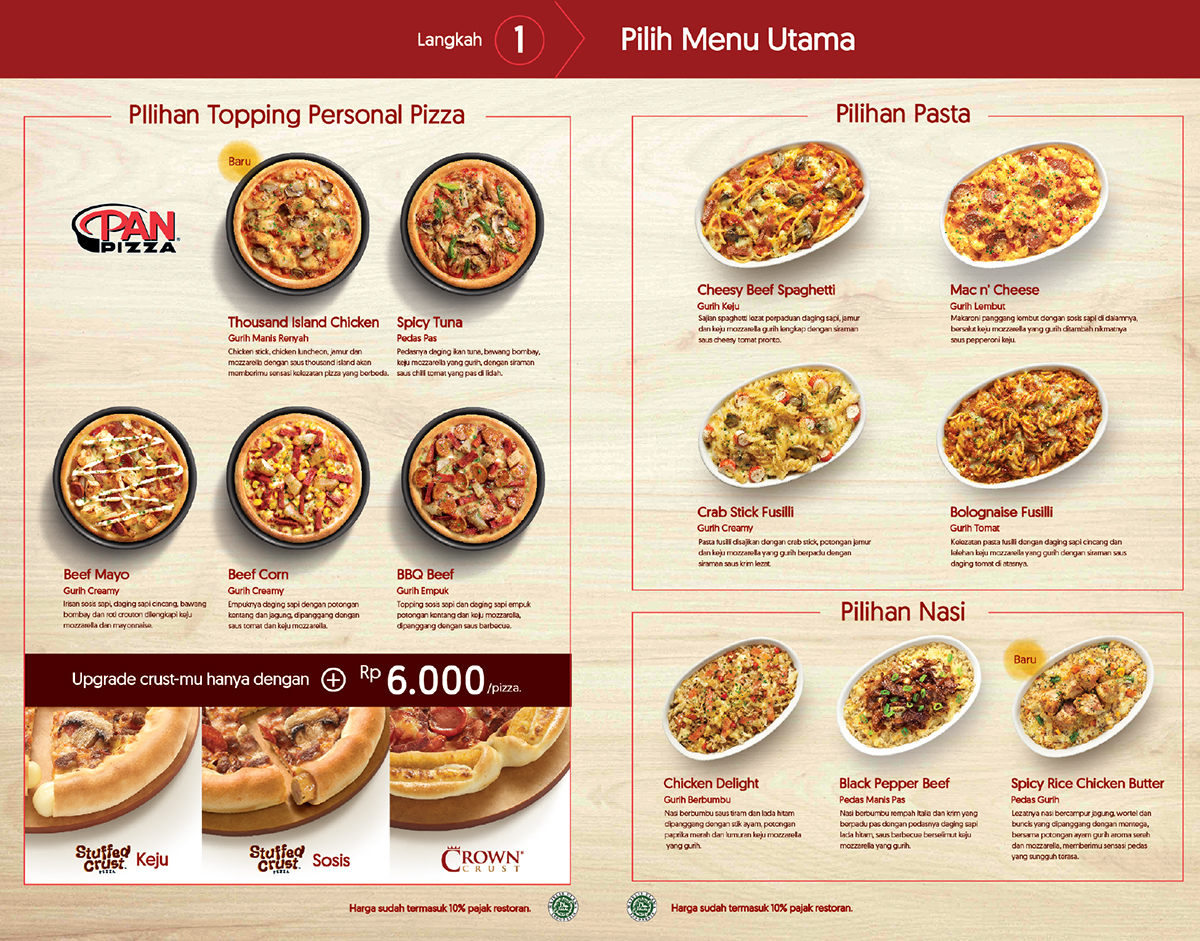Pizza Hut | Sensasi Delight Menu Book on Pantone Canvas ...