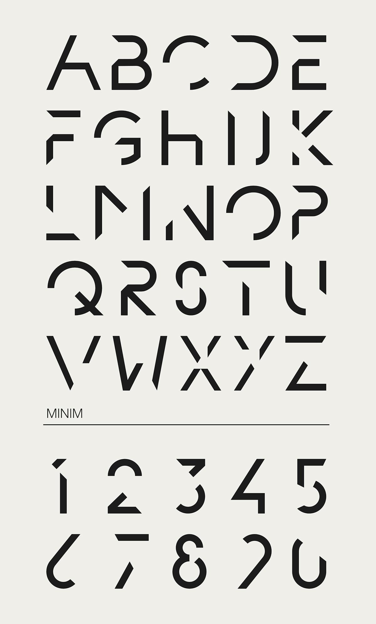 Minim - Typeface on Behance