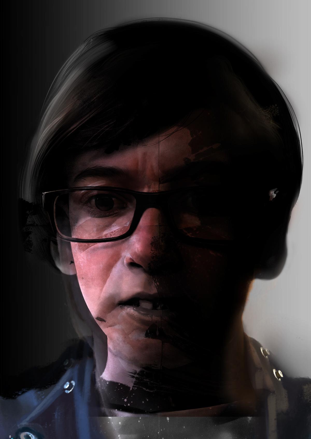 portrait Realism Digital Art  mobile art digital painting