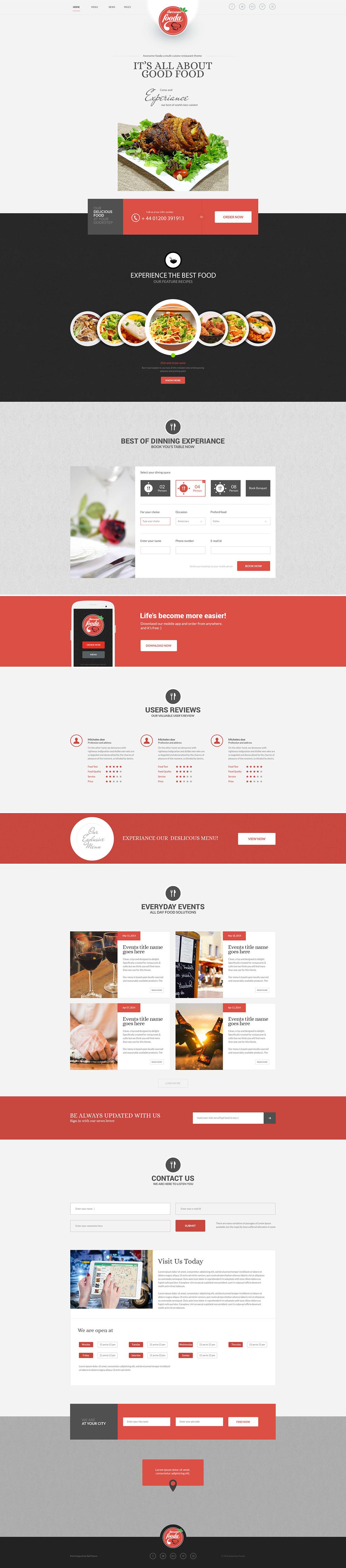 Theme Design photoshop Website