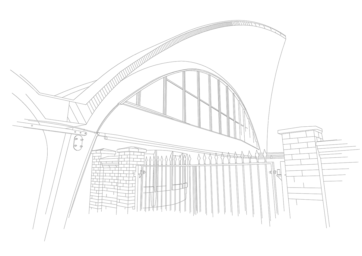 Architectural drawing free hand revit line drawings on for Online architecture drawing