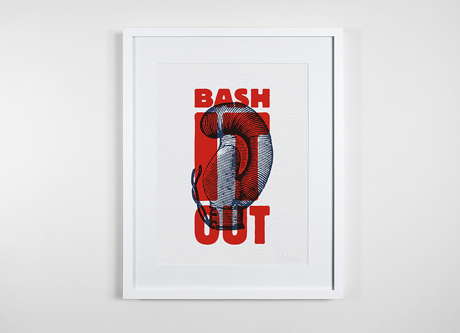 type typographic Riso risograph print poster vintage Retro