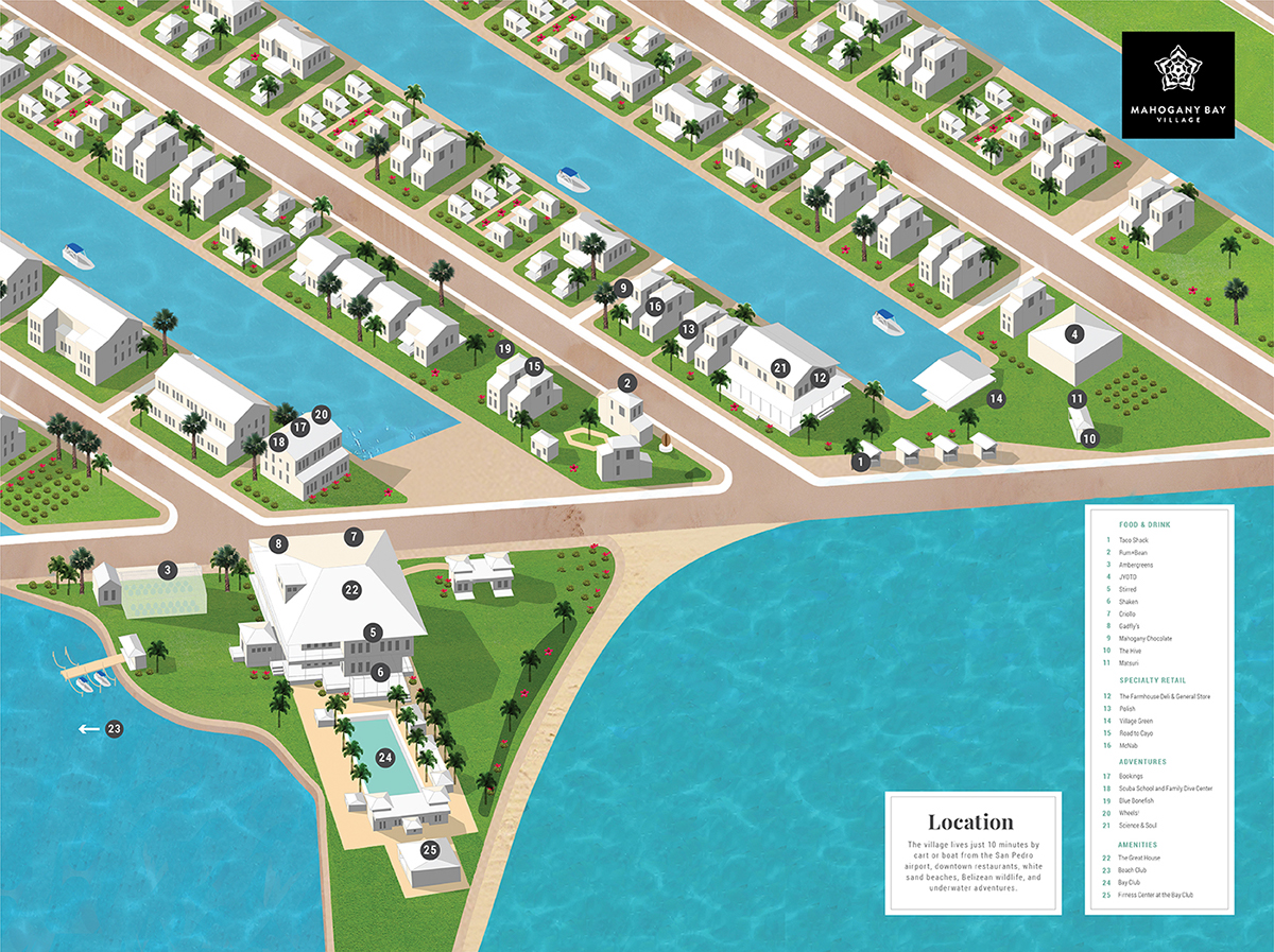 Mahogany bay village on pantone canvas gallery for Belizean style house plans