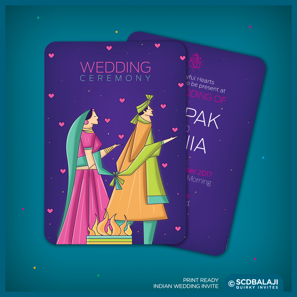 Contemporary indian wedding invite package on behance indian wedding invite size a5 front back card card cover gsm 300 cover card lamination glossy lamination rs 50 per card rs 20 per cover stopboris Images