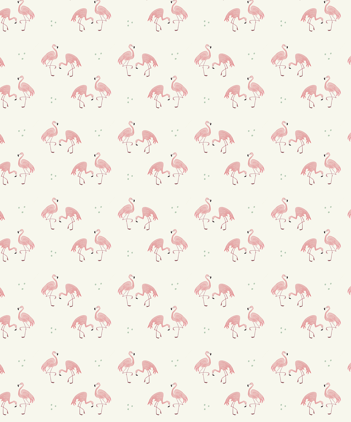 flamingos summer surface design pattern Character design  home decor society6