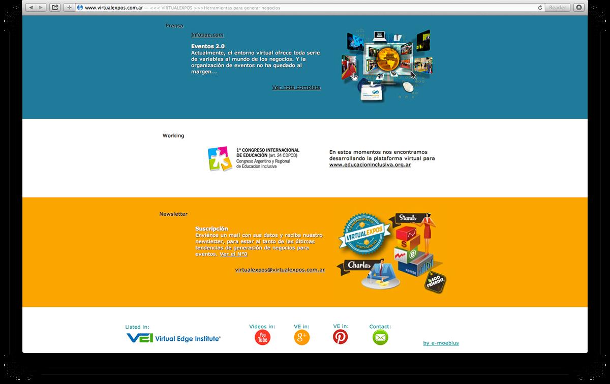 infographics infografias Logotipo virtual expos Events eventos Logo Design logo