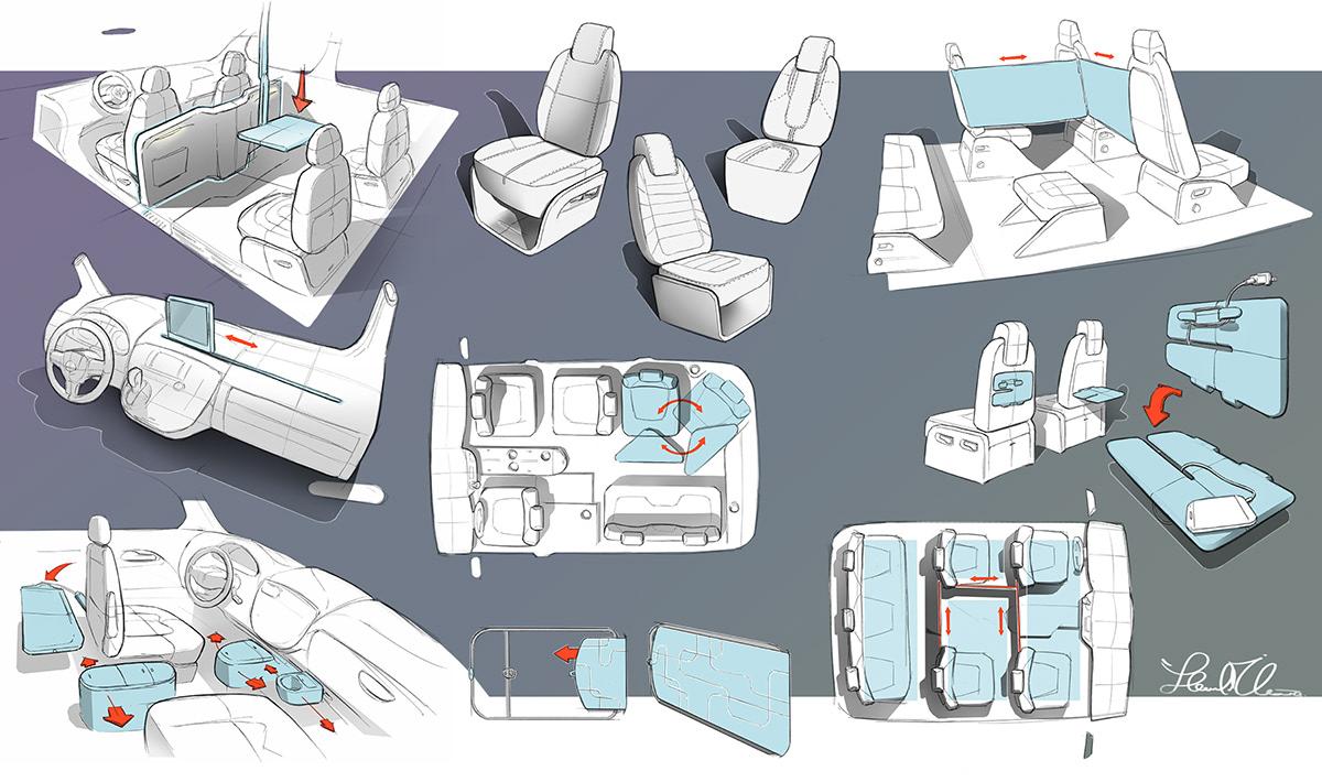 trends research CollegeforCreativeStudies Auto transportation auto interior VW volkswagon Adobe Portfolio