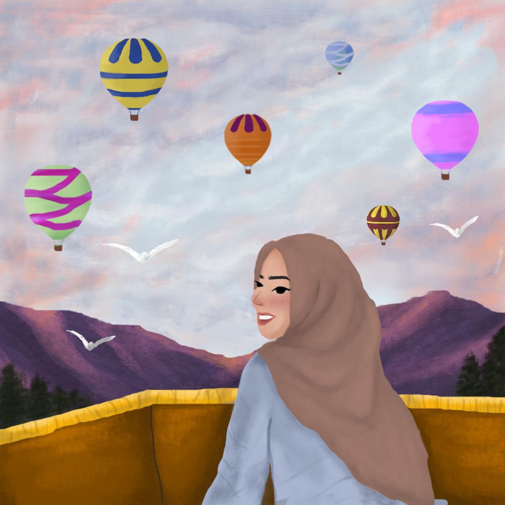 Image may contain: balloon, hot air balloon and transport
