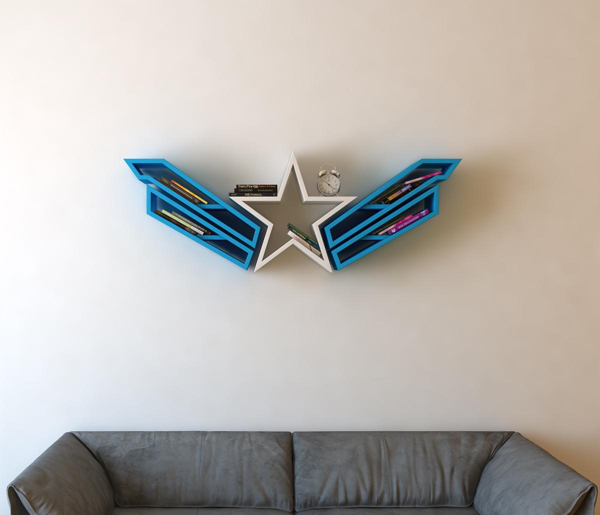 Captain America Bookshelf Logo Shelf Interrior On Behance