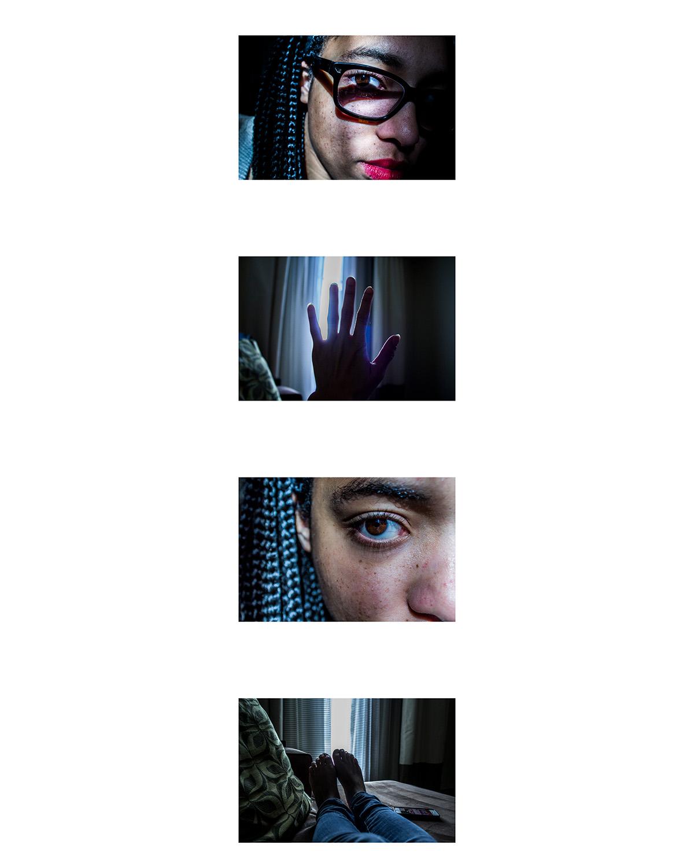 Selfportraits dipytch Triptych polytrich hotel