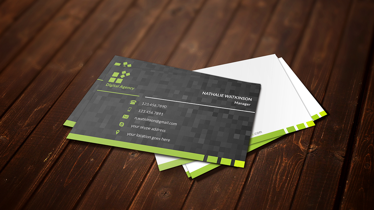 digital agency business card on behance