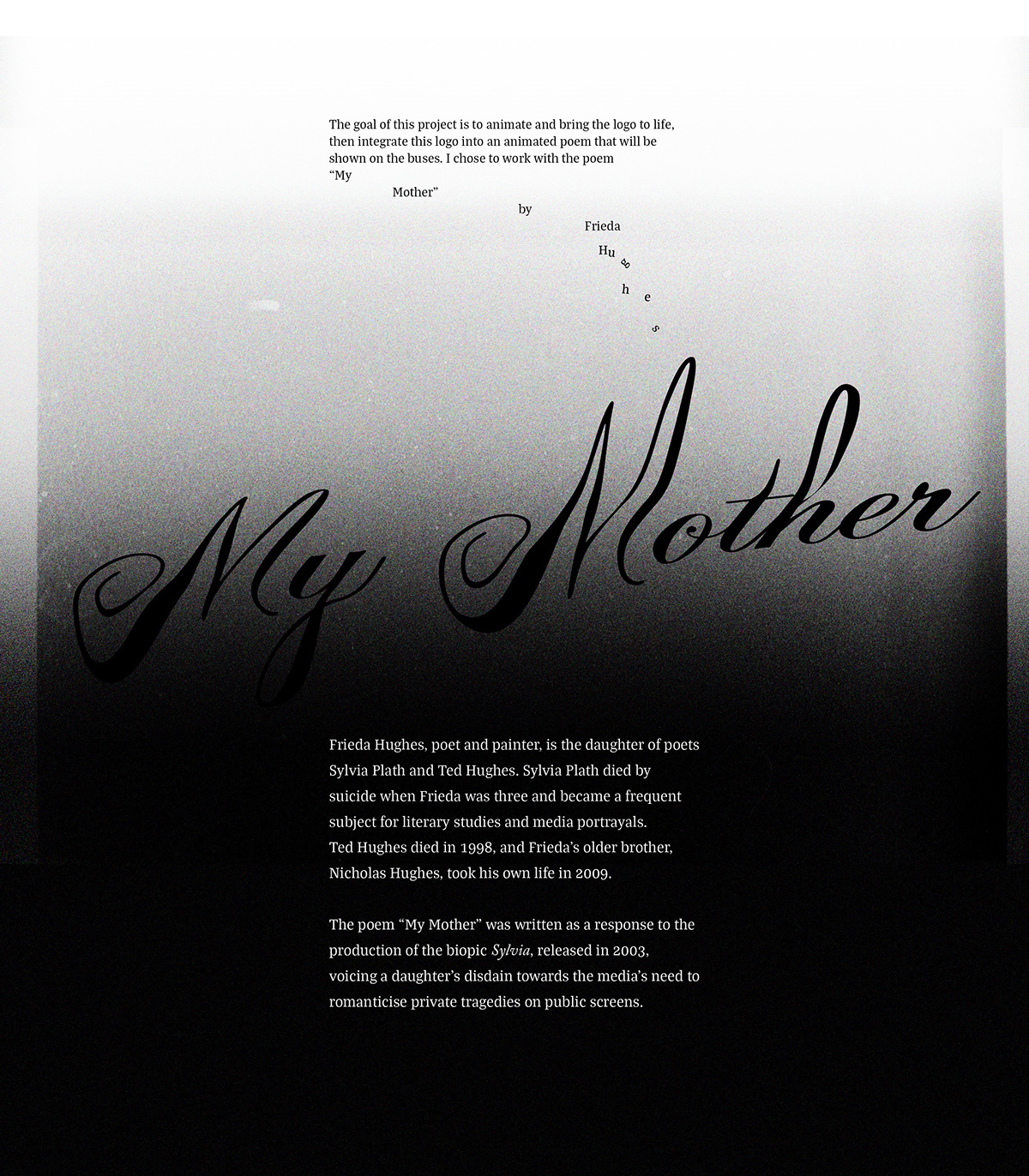 poetry in motion: my Mother on RISD Portfolios