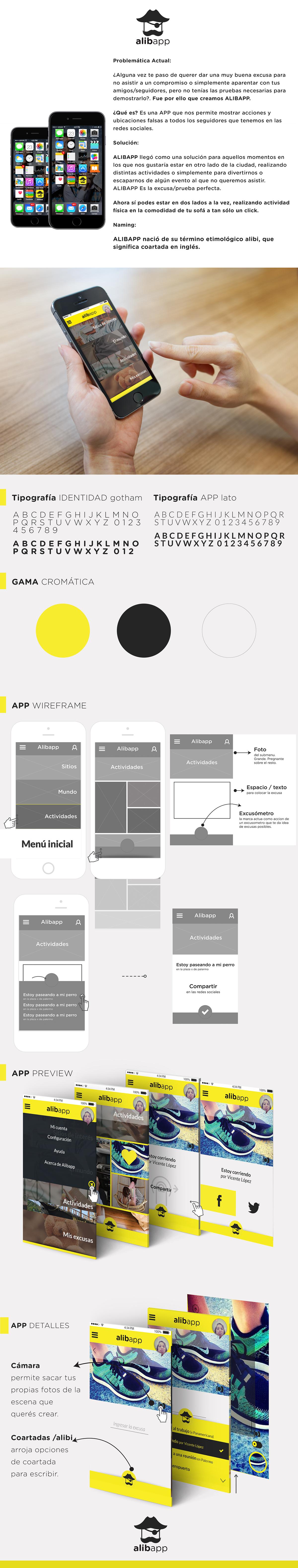 diseño UI ux Alibi ALIBAPP